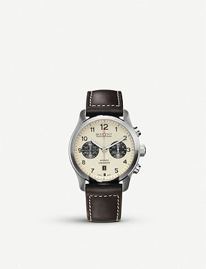 BREMONT ALT1-CCR07 stainless steel and leather watch