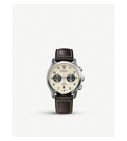 BREMONT ALT1-CCR07 stainless steel and leather watch (Steel