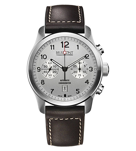 BREMONT ALT1CSI07 stainless steel and leather watch (Steel