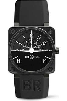 BELL & ROSS BR 01 Turn Coordinator black PVD and rubber watch
