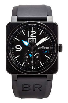 BELL & ROSS BR0351GMTCABLUE limited edition watch