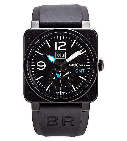 BELL & ROSS BR0351GMTCABLUE limited edition watch (Black