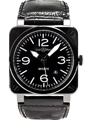 BELL & ROSS BR0392-CER-BLP/SCR Aviation watch
