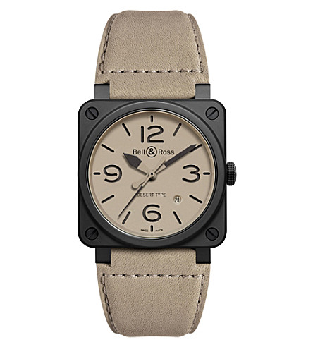 BELL & ROSS Aviation BR 03-92 ceramic desert type watch (Beige