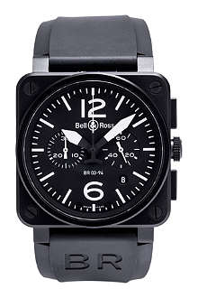 BELL & ROSS BR0394-BL-CA Aviation watch