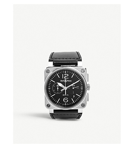 BELL & ROSS BR0394BLCE Aviation ceramic and rubber watch