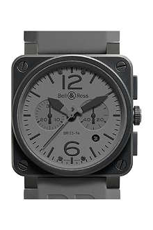 BELL & ROSS BR 03-94 Commando PVD and rubber watch
