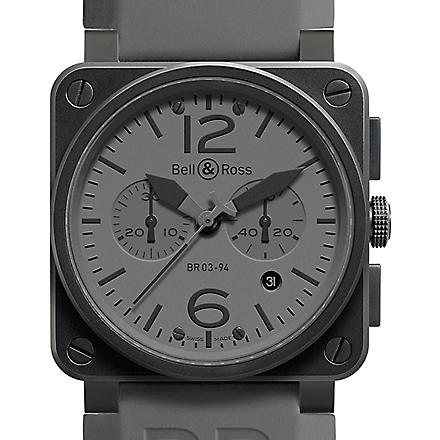 BELL & ROSS BR 03-94 Commando PVD and rubber watch (Black