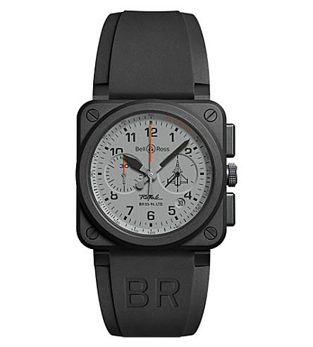BELL & ROSS BR0394RAFALECE Rafale ceramic aviation watch