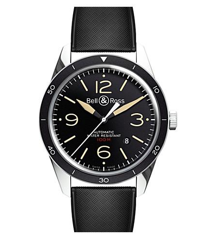 BELL & ROSS BR123 复古运动文物钢腕表
