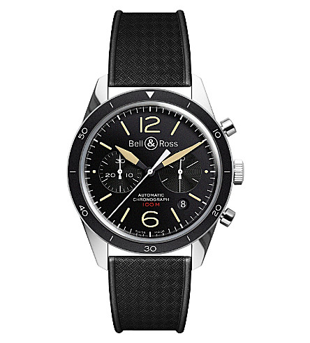 BELL & ROSS BR126 Sport Heritage steel watch