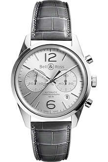 BELL & ROSS BRG126-WH-ST/SCR Vintage Officer steel watch