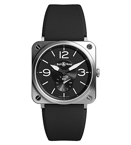 BELL & ROSS BR-S black steel automatic watch (Black