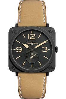 BELL & ROSS Black steel automatic watch