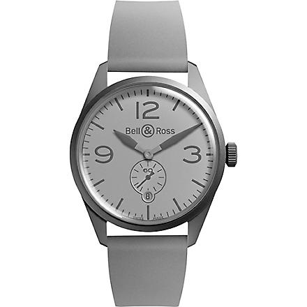 BELL & ROSS BR-123 Phantom PVD and rubber watch (Grey