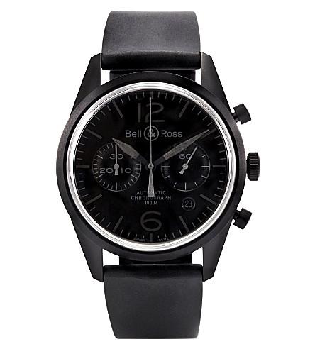 BELL & ROSS BRV126PHANTOM PVD watch (Black