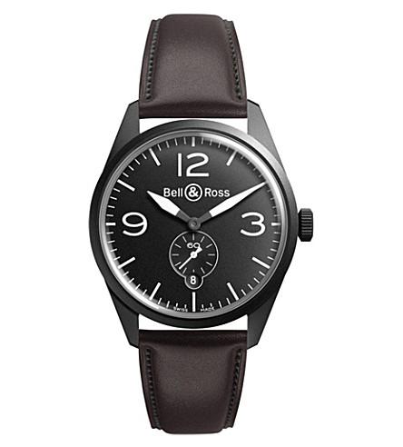BELL & ROSS Vintage brww197-bl-st/scr watch (Black