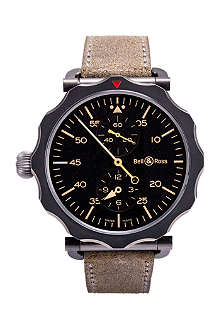 BELL & ROSS Black and steel WW1 watch