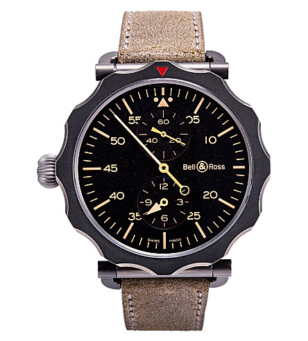 BELL & ROSS Black and steel WW1 watch (Black