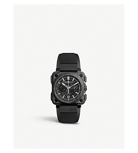 BELL & ROSS BRX1CECFBLACK Carbon Forge carbon and titanium watch