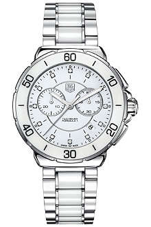 TAG HEUER Formula 1 steel, ceramic & diamonds chronograph watch