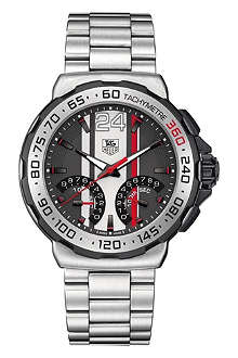 TAG HEUER Formula 1 calibre S 1/100th sec electro-mechanical chronograph watch 44mm
