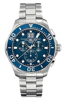 TAG HEUER Aquaracer 300m grande date chronograph watch 43mm