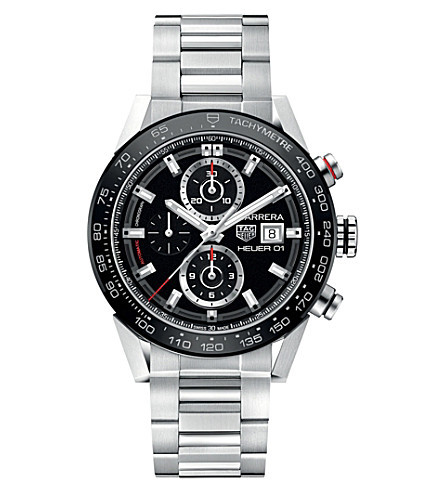 TAG HEUER CAR201Z.BA0714 Carrera stainless steel watch (Black