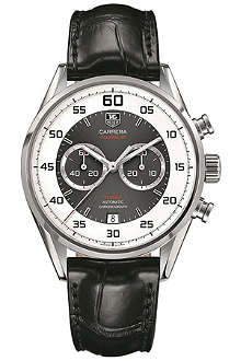 TAG HEUER CAR2B11FC6235 Carrera calibre 36 flyback chronograph watch 43mm