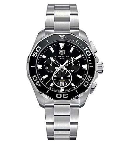 TAG HEUER CAY111A.BA0927 Aquaracer stainless steel watch (Black