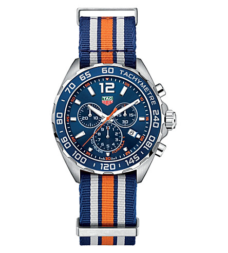TAG HEUER Formula 1 stainless steel watch (Blue