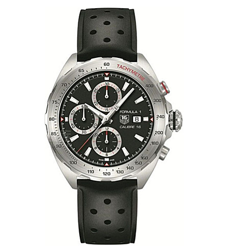 TAG HEUER CAZ2010。FT8024 配方1不锈钢腕表 (黑色
