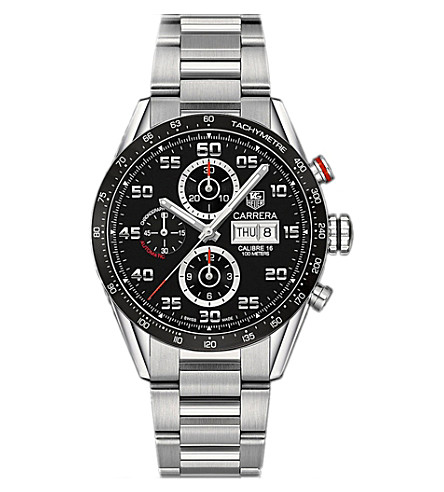 TAG HEUER CV2A1RBA0799 carrera stainless steel watch (Black