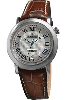 DREYFUSS DGS00030-21 automatic stainless steel and leather watch