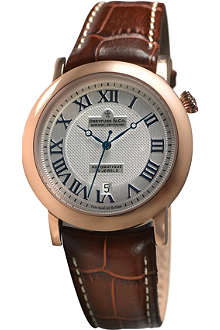 DREYFUSS DGS00031-21 stainless steel and leather watch