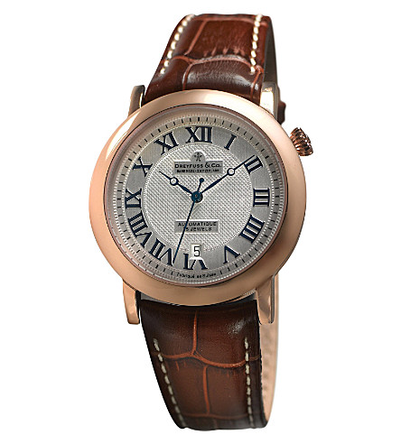 DREYFUSS DGS00031-21 stainless steel and leather watch (Steel