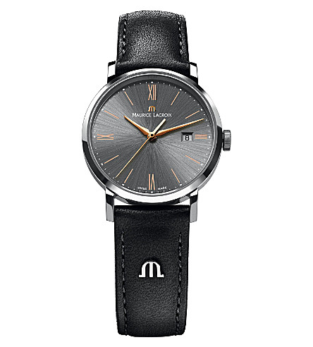 MAURICE LACROIX EL1087-SS001-811 stainless steel and calf-leather watch