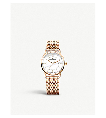 MAURICE LACROIX Eliros EL1094-PVP06-111-1 rose gold-plated watch (White