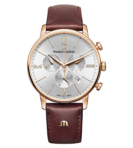 MAURICE LACROIX Eliros EL1098-PVP01-111-1 rose gold-plated PVD watch (Silver