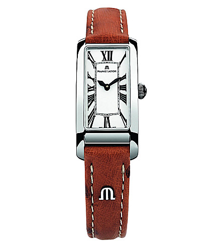 MAURICE LACROIX FA2164-SS001-117 stainless steel and leather watch