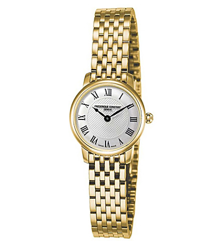 FREDERIQUE CONSTANT FC200MCS5B Slimline Mini yellow gold-plated watch