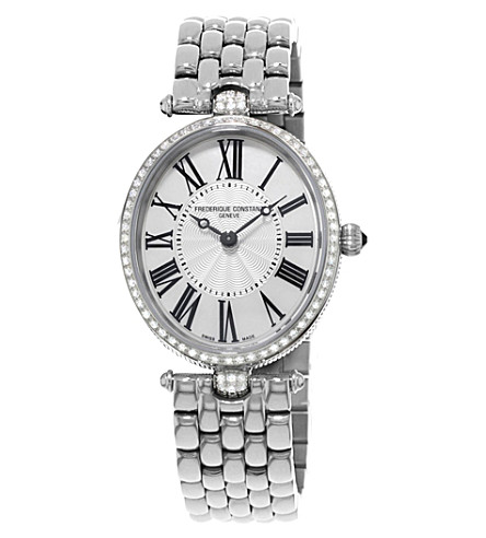 FREDERIQUE CONSTANT FC200MPW2VD6B Classics Art Deco stainless steel and diamond watch