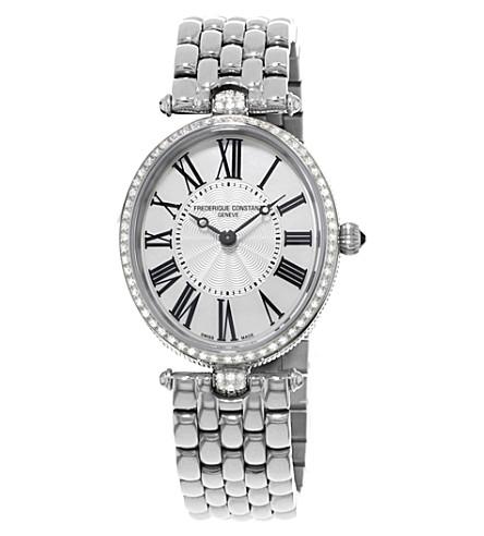 FREDERIQUE CONSTANT FC200MPW2VD6B 经典艺术装饰不锈钢和钻石手表