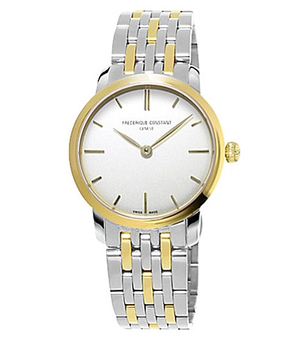 FREDERIQUE CONSTANT FC200S1S33B3 Slimline yellow gold-plated and stainless steel watch