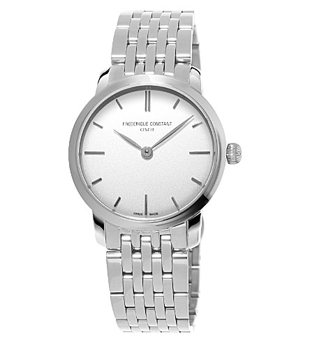 FREDERIQUE CONSTANT FC-200S1S36B3 Slimline Mid Size stainless steel watch (White