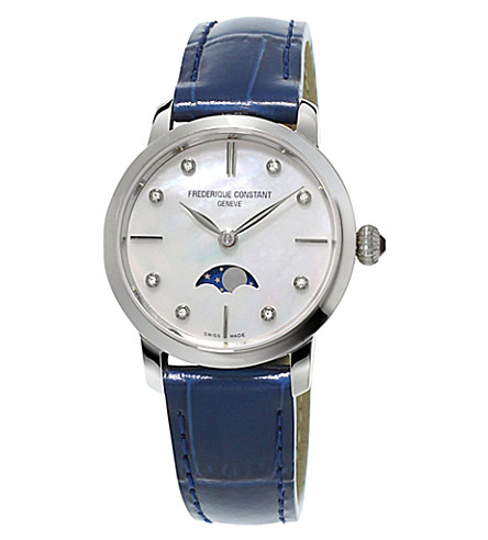 FREDERIQUE CONSTANT FC206MPWD1S6 Slimline Moonphase stainless steel watch