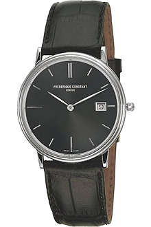 FREDERIQUE CONSTANT FC-220NG4S6 stainless steel and leather watch