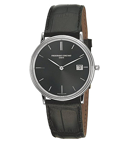 FREDERIQUE CONSTANT FC-220NG4S6 stainless steel and leather watch (Steel