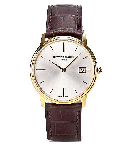 FREDERIQUE CONSTANT FC220NW4S5 slim line automatic watch (Gold