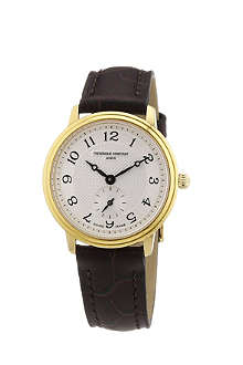 FREDERIQUE CONSTANT FC235AS1S5 gold-plated and leather watch